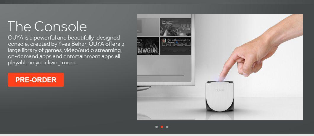 新しいゲーム機のカタチ「OUYA」の公式サイトオープン&予約受付開始