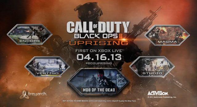 【CoD:BO2】新MAPのDLC『Uprising』はxbox360で4月16日より先行配信