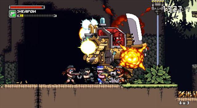 【Mercenary Kings】メタスラを彷彿させるドット絵な横スクロールアクション