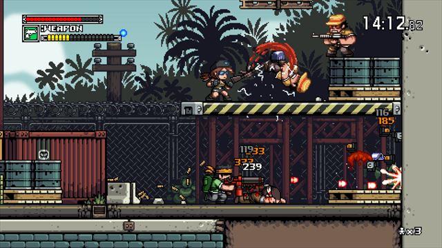 【Mercenary Kings】Steamで正式リリース スコピル風ドット絵のメタスラ系2Dアクション