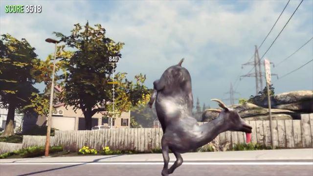 Goat Simulator パッチ1.1で逆立ちするヤギ