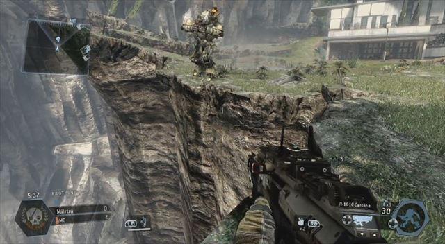 Titanfall mythbusters オートタイタンが崖から転落