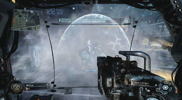 Titanfall mythbusters第2弾 ドームシールド内のタイタンに電気スモークでダメージは入らない
