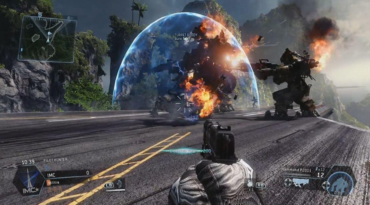 Titanfall mythbusters 3弾 ドームシールドで破壊されるオートタイタンたち