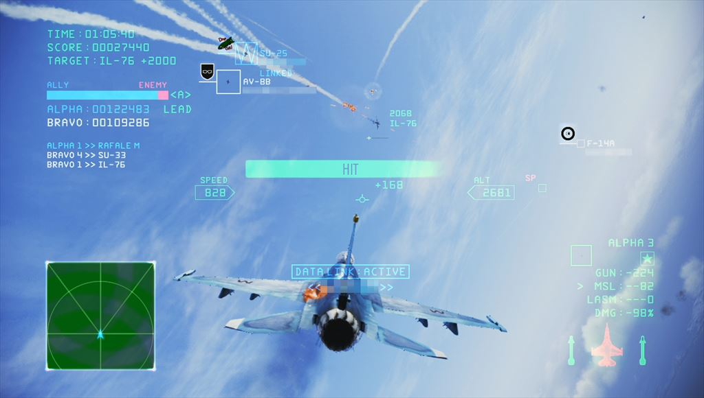 Ace Combat Infinity F-2Aで空戦