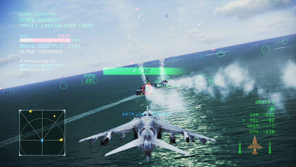 Ace Combat Infinity ハリアーで対地攻撃