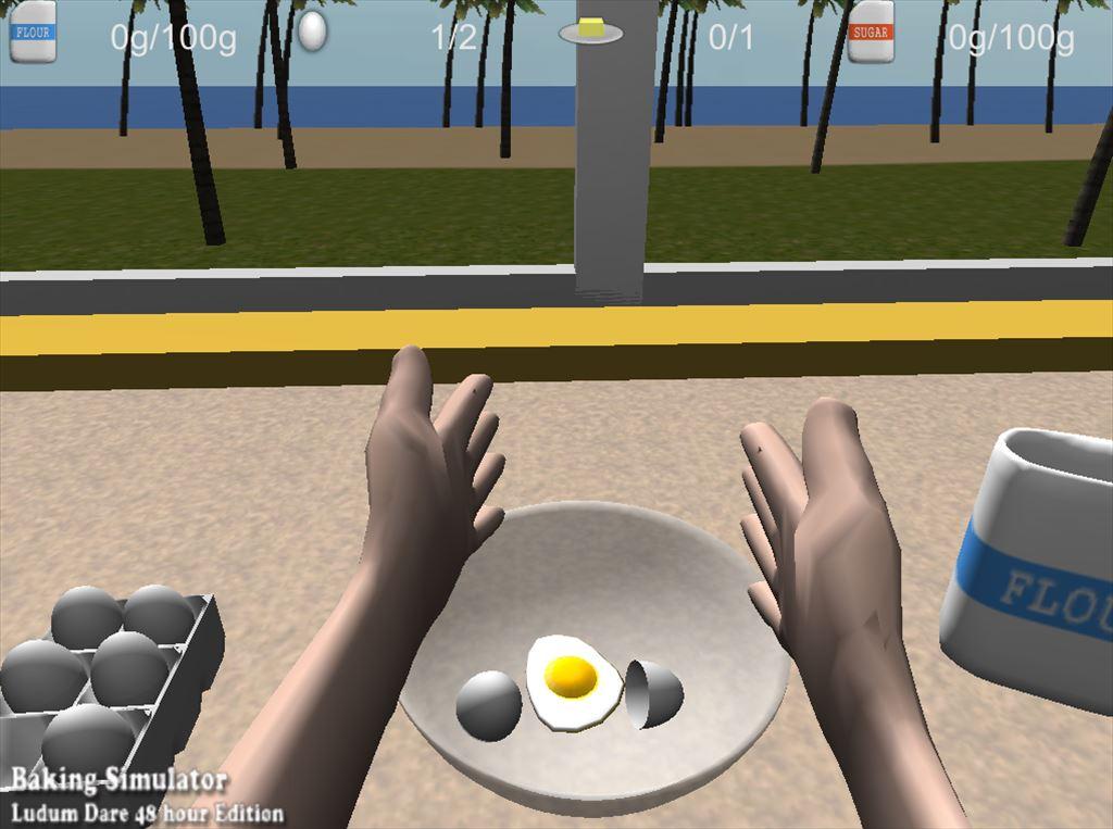 Baking Simulator タマゴの殻は捨てないと