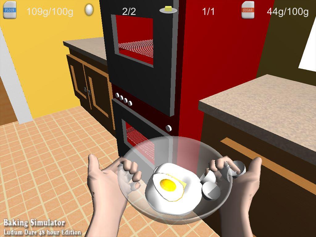 Baking Simulator オーブンに運ぶ緊張の時間