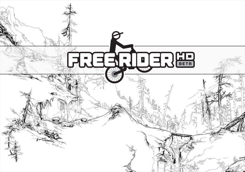 【Free Rider HD】自由なコースを自転車でエクストリームにトライアルするシンプルゲーム