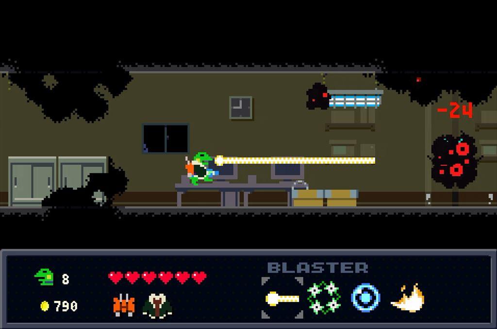 ケロブラスター ステージ7攻略 硬い敵にはレーザーで対応