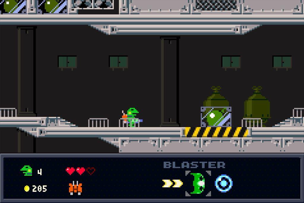ケロブラスター ステージ4攻略 爆弾ケースは撃たないように