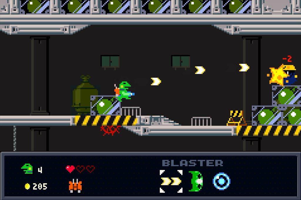 ケロブラスター ステージ4攻略 爆弾モグラは離れて対処