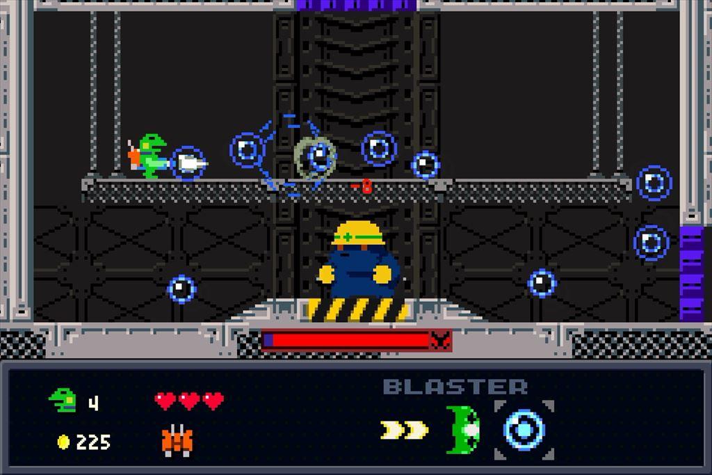 ケロブラスター ステージ4攻略 巨大爆弾モグラはバブルが有効