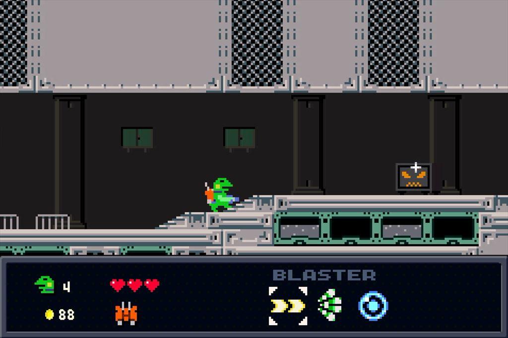 ケロブラスター ステージ4攻略 人相の悪い金庫も中身は金庫