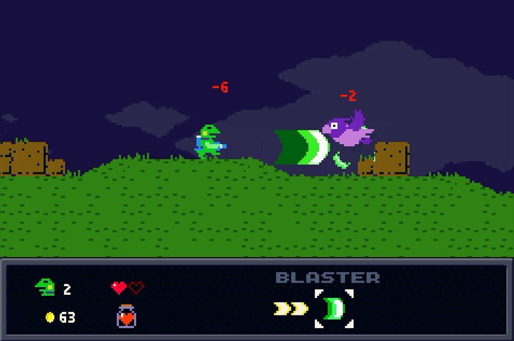 ケロブラスター ステージ2攻略 鳥は強敵