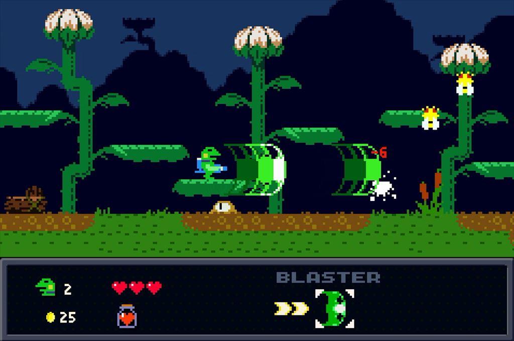 ケロブラスター ステージ2攻略 泥の中から妖怪が登場
