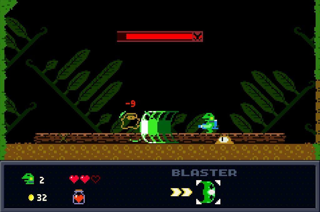 ケロブラスター ステージ2ボス攻略 ザコ敵にはワイドショットが有効