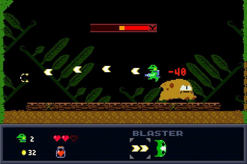 ケロブラスター ステージ2ボス攻略 突進はジャンプで回避