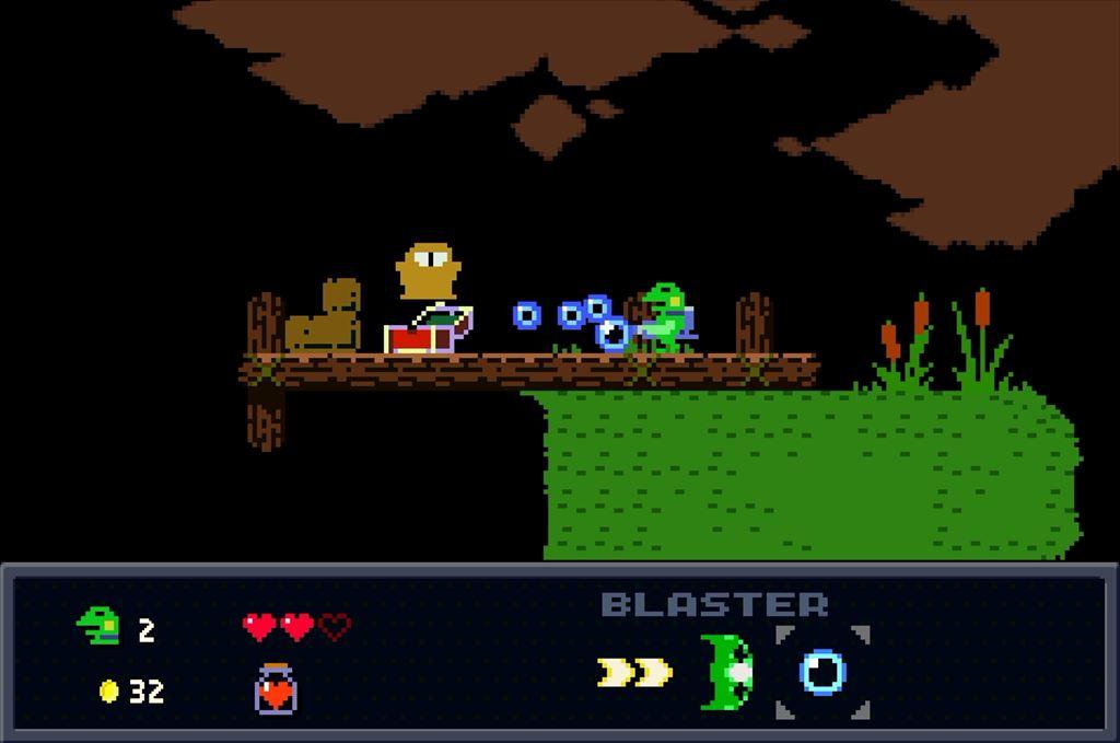 ケロブラスター ステージ2攻略 宝箱の中身は罠