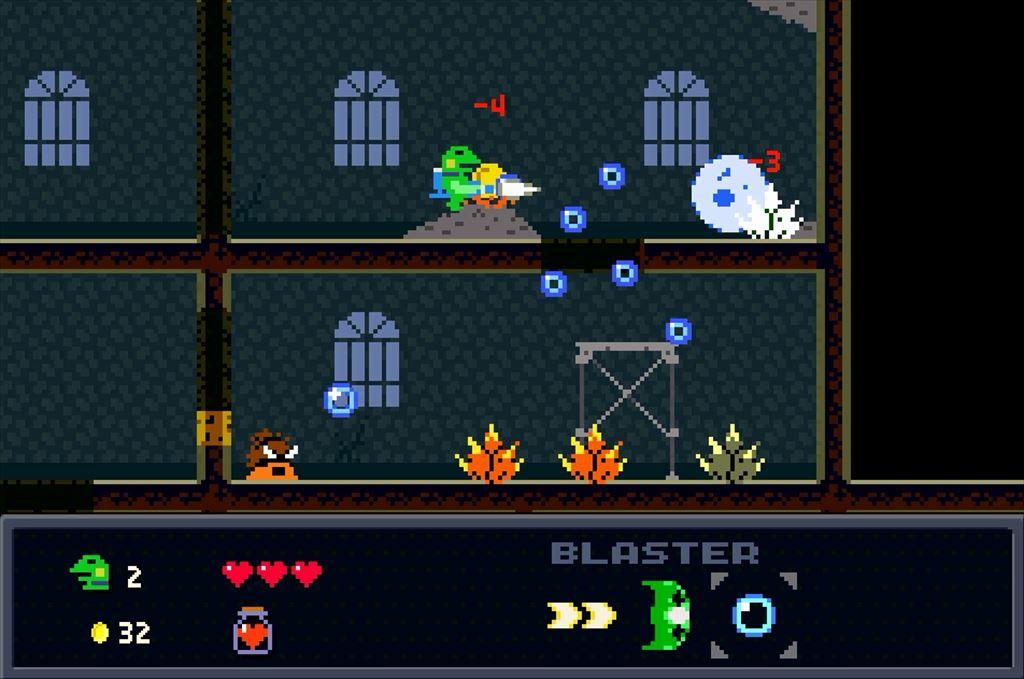 ケロブラスター ステージ3攻略 バブルが大活躍