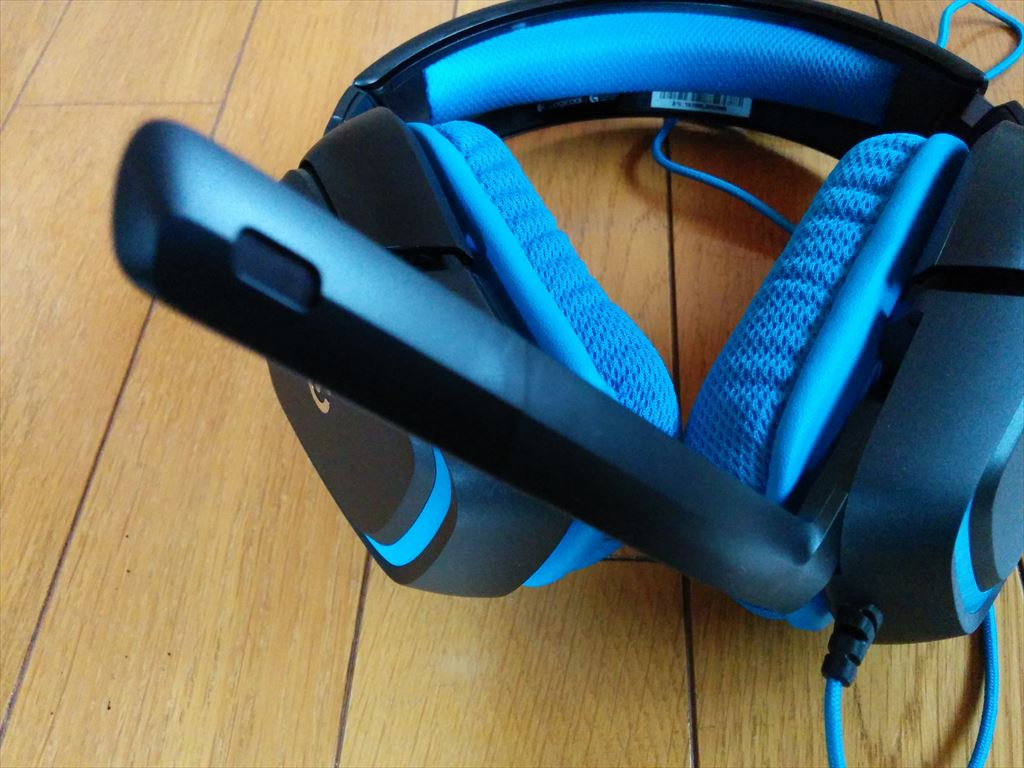 logicool Gaming headset G430 マイク部分