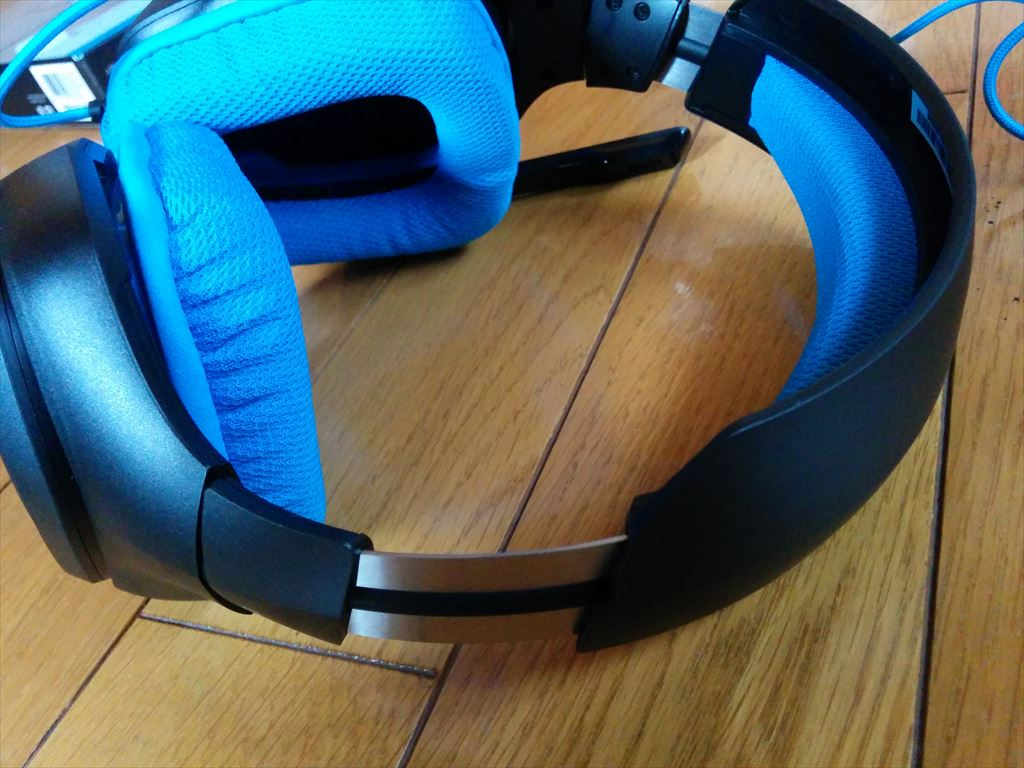 logicool Gaming headset G430 ヘッドセット上部