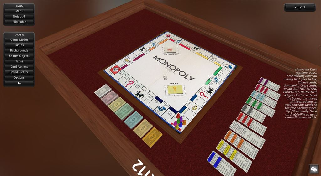 tabletop simulatorのカスタムMOD monopoly