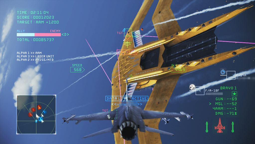 【Ace Combat Infinity】プレイ日記 金の鯨に出会ったり潜水艦を撃沈できたりSランクを達成できたり