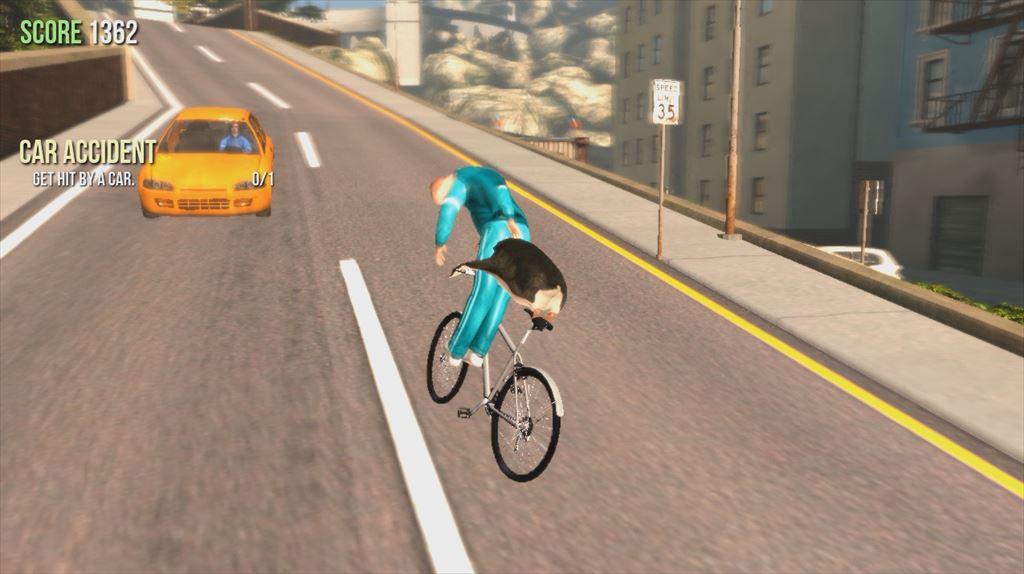 Goat Simulator 1.1 自転車に乗るペンギン型ヤギ