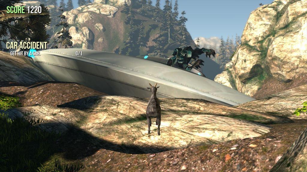 Goat Simulator 1.1 墜落しているUFO