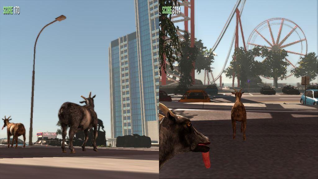 Goat simulator 1.1 ローカルの画面分割マルチプレイ