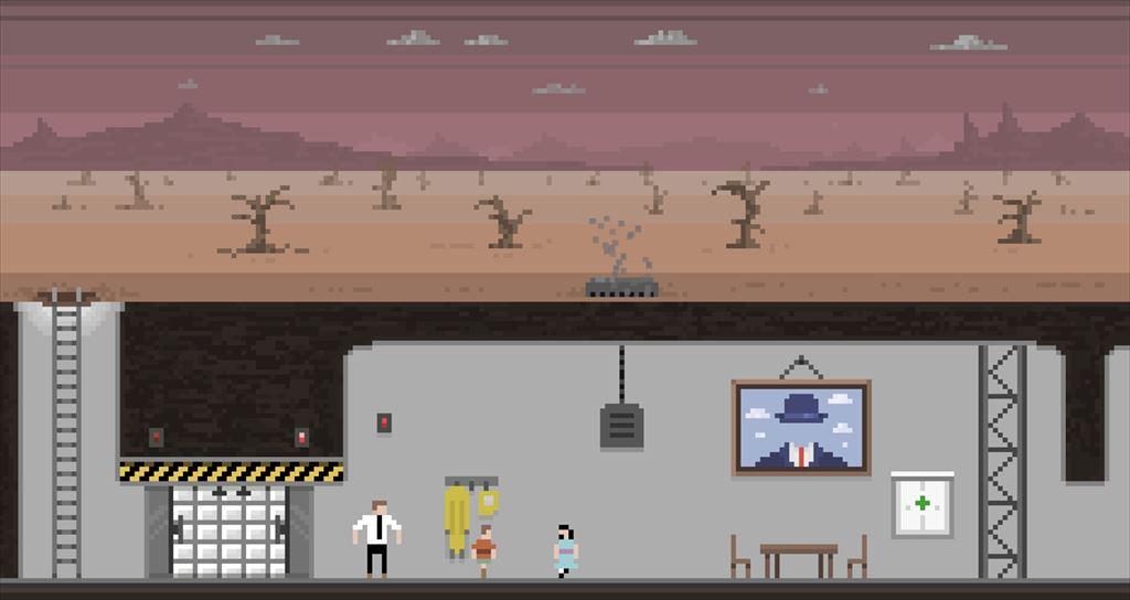 Sheltered 核戦争後のシェルターでサバイバルするゲーム