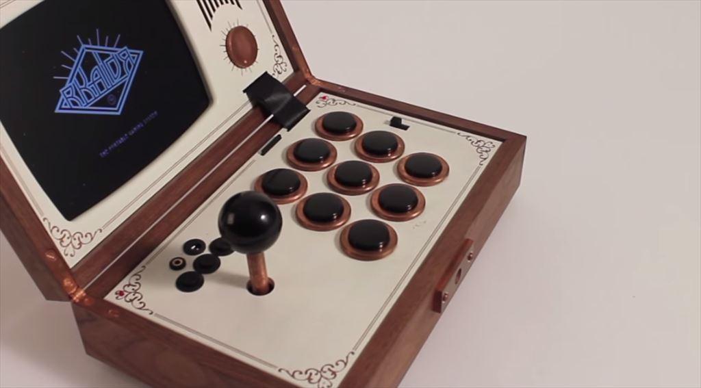 【R-Kaid-R】高級感ある木製のポータブルなアーケードゲームキャビネット