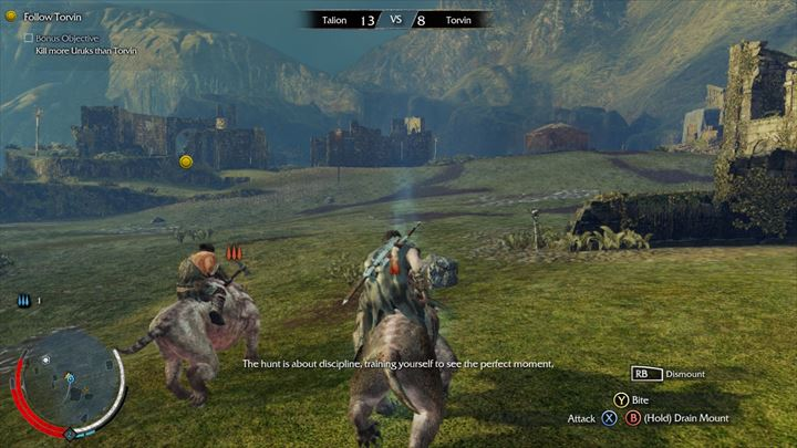 Shadow of Mordor 野獣に乗る