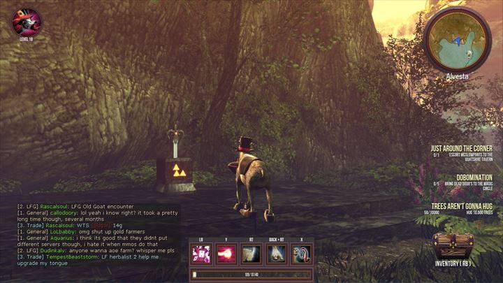 Goat MMO Simulator 森の中に鎮座するマスターソード