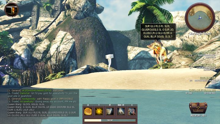 Goat MMO Simulator 足の生えた電子レンジと魚