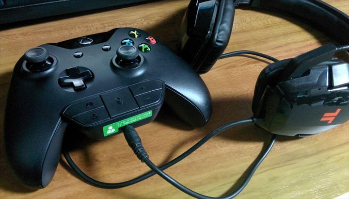 Xbox one ヘッドセットアダプターとTRITTON trigger