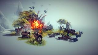 【Besiege】中世的なマシーンを作り上げて城や兵隊をブッ壊す物理エンジン系ゲーム