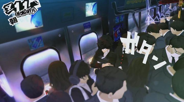 Persona5 満員電車