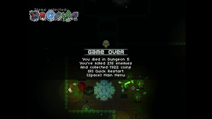 Dungeon Souls ゲームオーバー