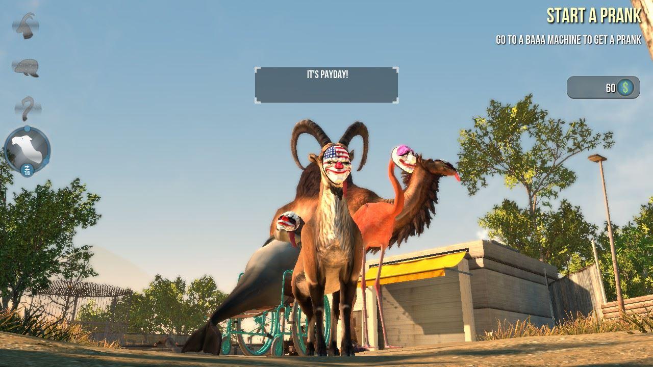 Goat Simulator PAYDAYとコラボDLC
