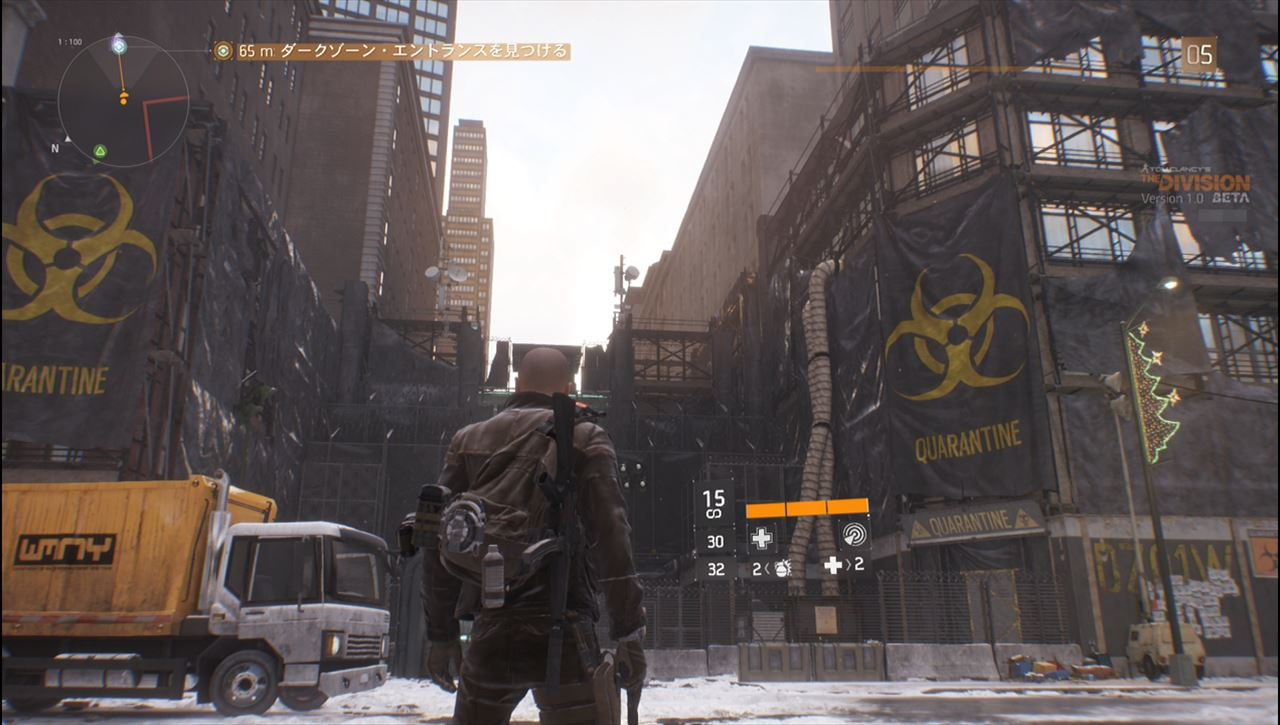The division ダークゾーンのエントランス
