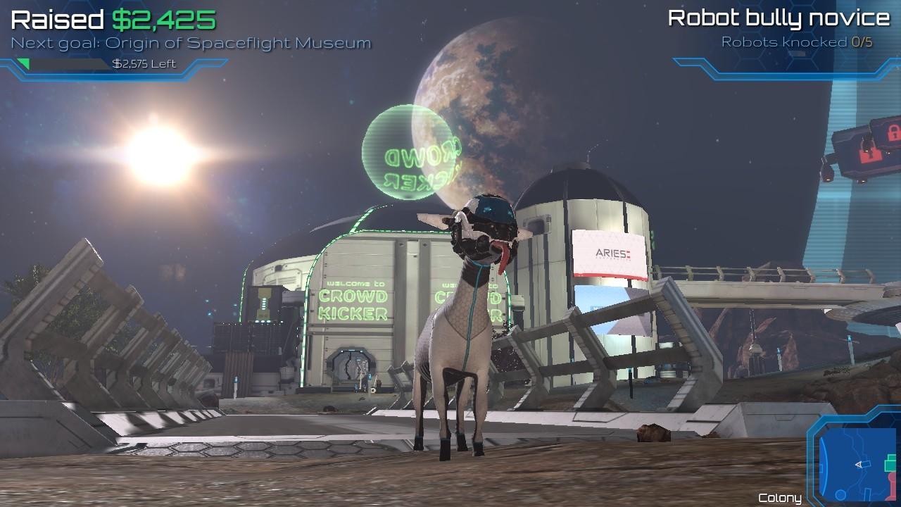 goat simulator 宇宙でクラウドファンディング