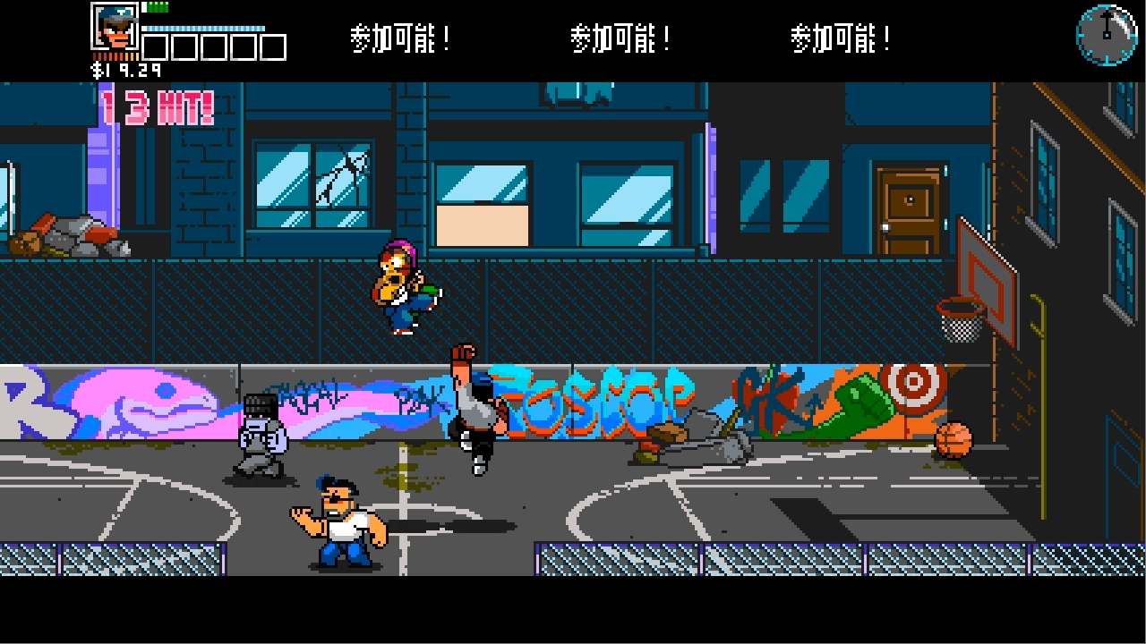 River City Ransom Underground バスケットボールコート