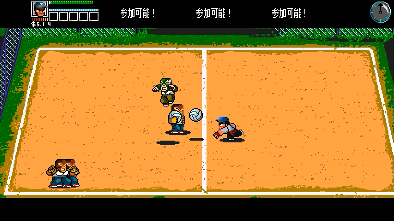 River City Ransom Underground ドッヂボールコート