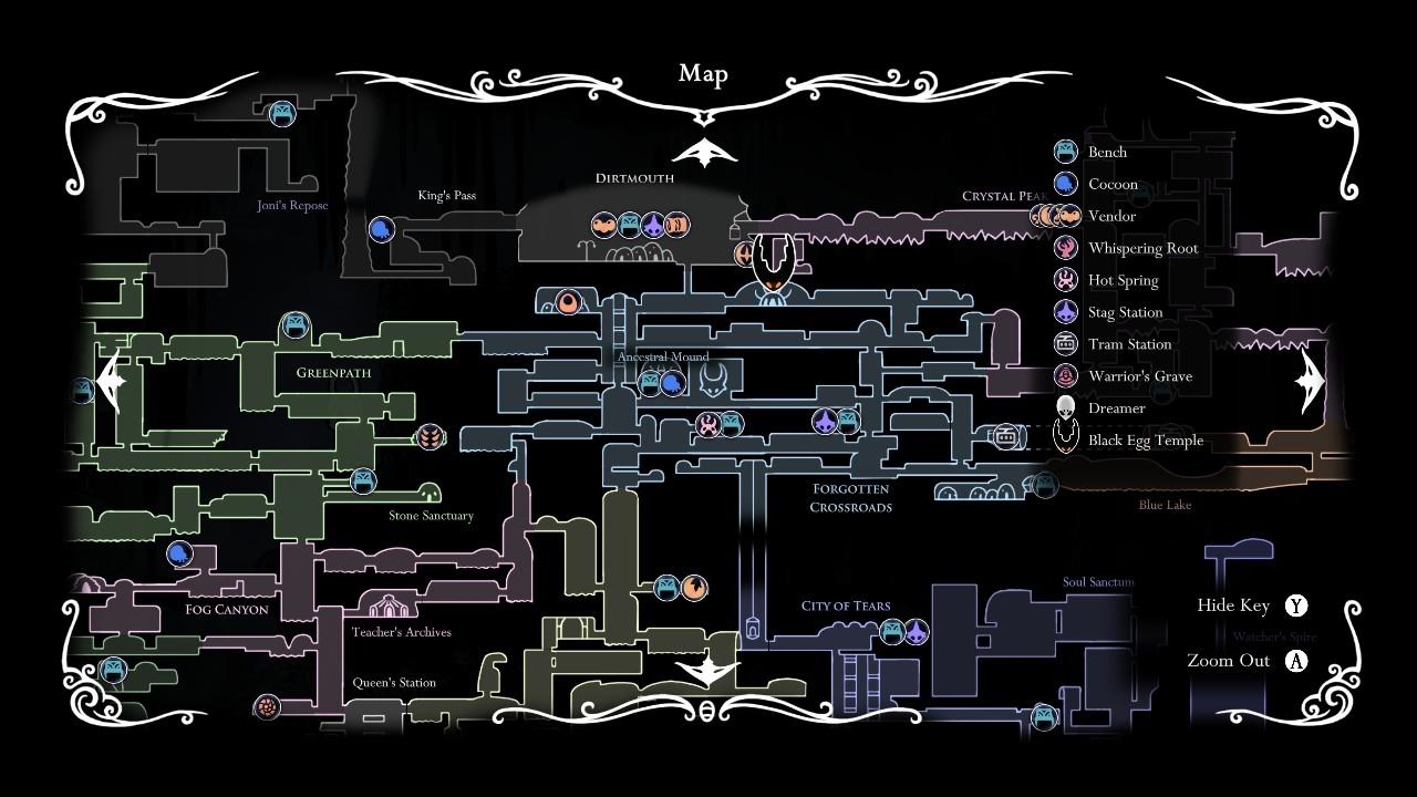 hollow knight 広いマップ