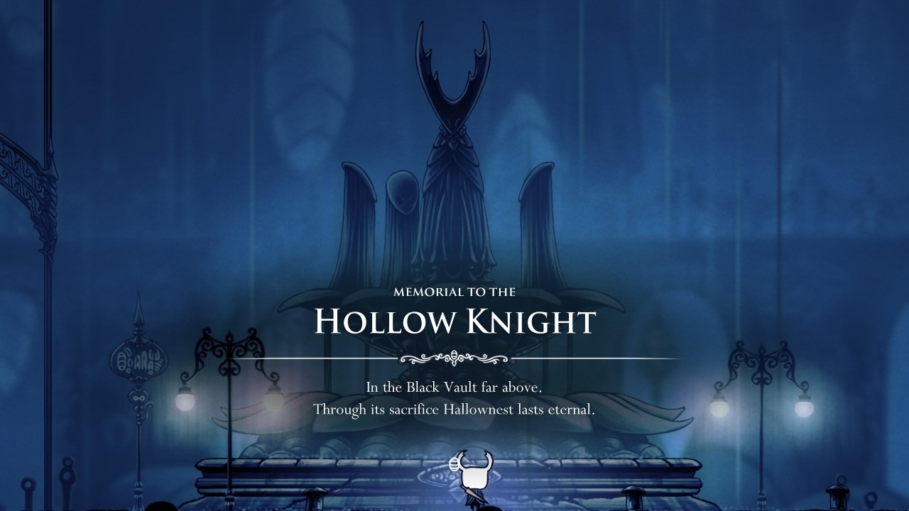hollow knight 記念碑前にて