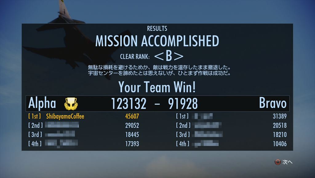 Ace Combat Infinity ハイスコア更新