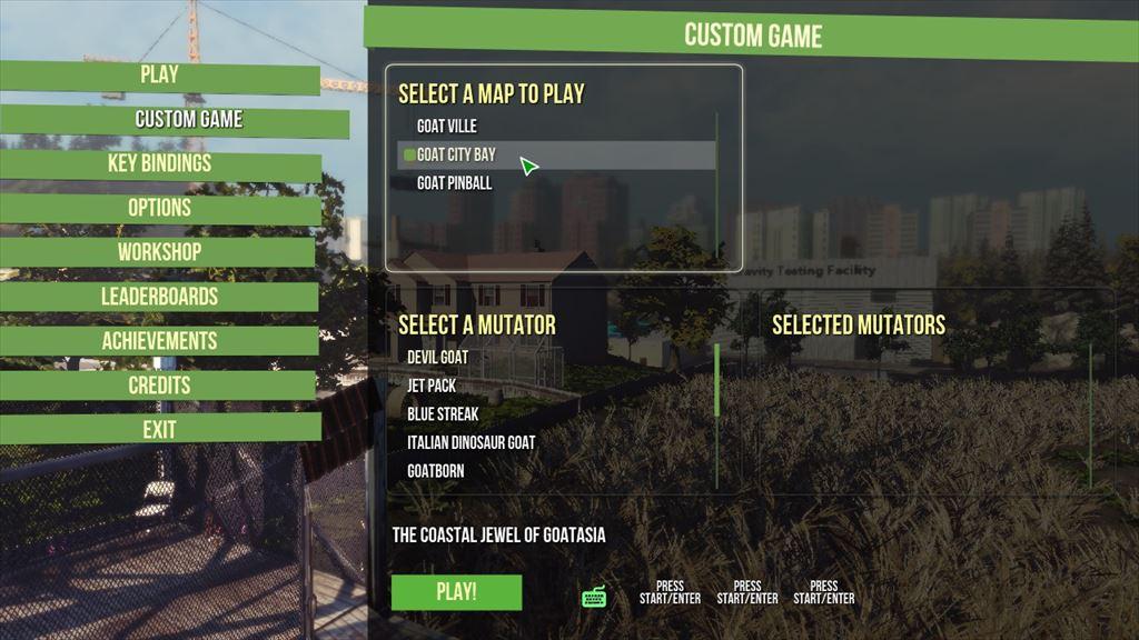 Goat Simulator 1.1 新マップの選び方