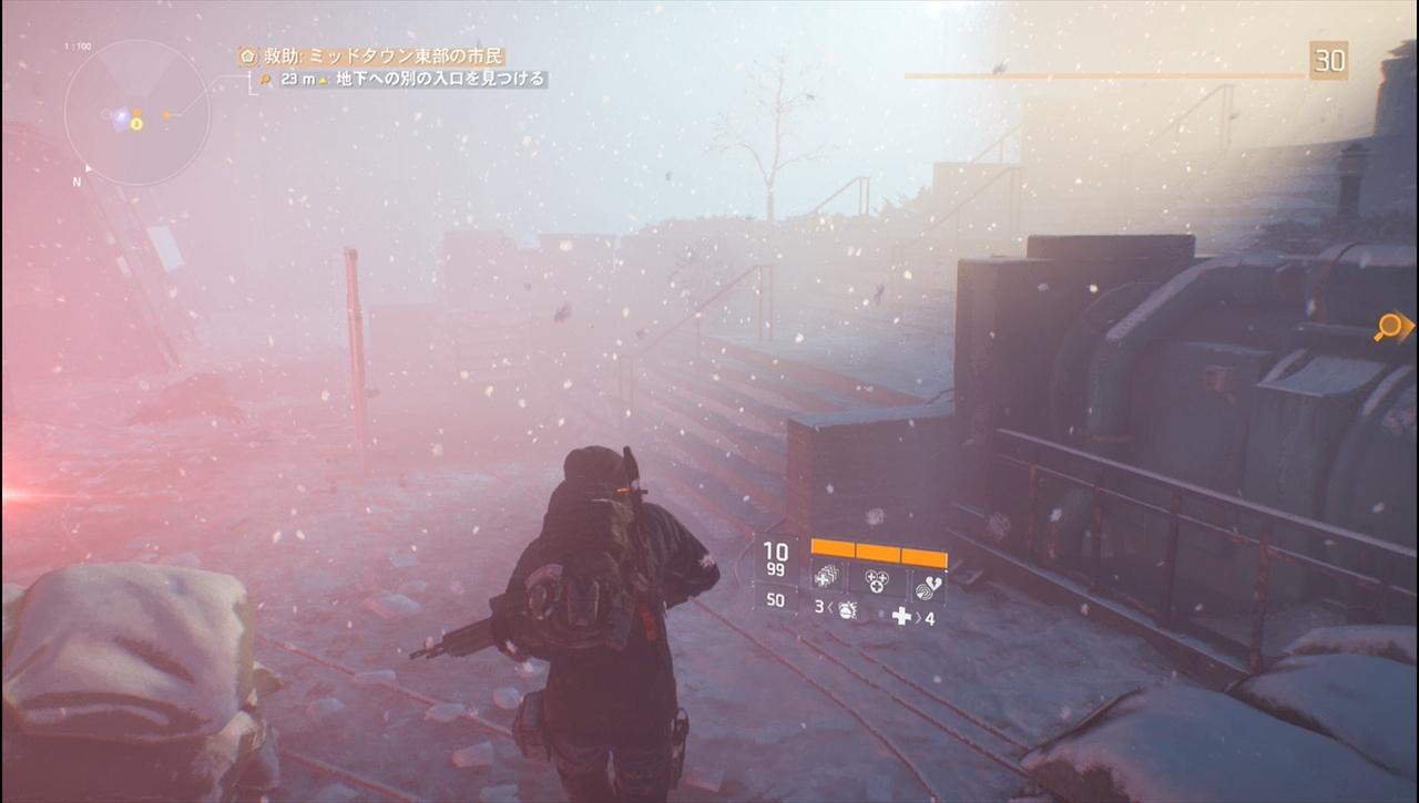the division 時には視界ゼロの吹雪も